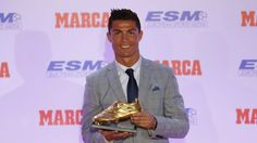 Cristiano Ronaldo is the only player to have won four European leagues' Golden Boot awards after having scored 48 goals in 35 games for Real Madrid last season. He has previously won twice with Real Madrid and once with Manchester United. He is Real Madrid's leading all time goalscorer with 324 goals. 14.10.15