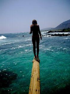 Walk the plank to the ocean. Beach Girl @ <3