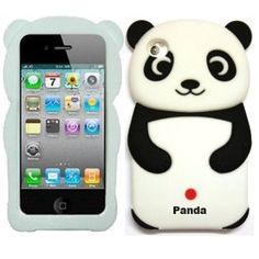 Gadget Zoo Cute 3D Panda Cover for Apple iPod Touch 4th Gen Gel Silicone Stylish Case Skin  Black * Continue to the product at the image link. (Note:Amazon affiliate link)