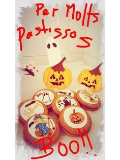 galletas Halloween,pintadas a mano
