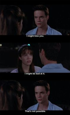 "A Walk to Remember - ""I might be bad at it"" Yep, that's exactly what I was thinking before my first kiss."