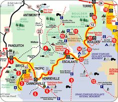 Million Dollar Highway Map | continuing along scenic highway 12 in utah see map above on our ...