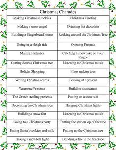 Christmas Charades from thejoysofboys.com.  #christmasgames #Christmas #charades: