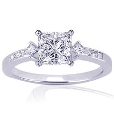 Princess Cut Wedding Rings | 20 Ct Princess Cut Diamond Engagement Ring « Buy Jewelry Diamond ...