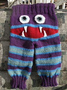 FO Friday: Monster Bum Baby Longies | Remily Knits