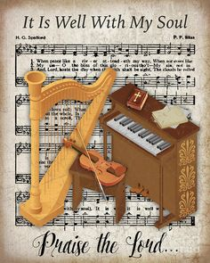Beautiful inspirational art created by Jean Plout. Great for anyone who loves the Lord and great old vintage hymns! Vintage sheet music from the late with various musical instruments. Sheet Music Art, Music Paper, Vintage Sheet Music, Vintage Sheets, Music Sheets, Printable Scrapbook Paper, Alcohol Ink Crafts, Music Drawings, Music Crafts
