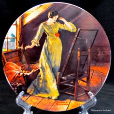 """COLLECTIBLE PLATE - Norman Rockwell, Mother's Day Series, """"Memories"""""""