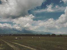 #lackoj #hightatras #peaks #cloudy  #summer #haybales #slovakia