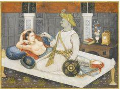 Tipu Sultan with his royal mistress, Delhi, circa 1850