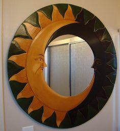 Art / Sun Moon Mirror by EarlsBizarre on Etsy, $97.00
