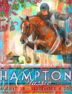The Hampton Classic Horse Show, one of my favorite stops on the circuit and a perfect stop for the Oughton pop-up shop.