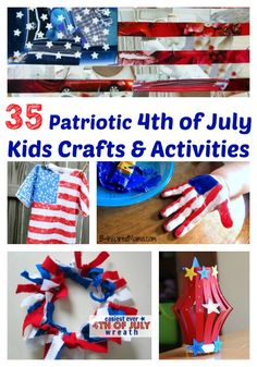 35 Patriotic 4th of July Kids Crafts  Activities
