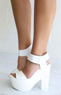 a5d0c91ca3f8 Windsor Smith Leon Heels White