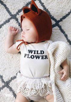 Wild Flower Organic Cotton Onesie   SavageSeeds on Etsy