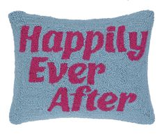 Happily Ever After Hook Wool Lumbar Pillow
