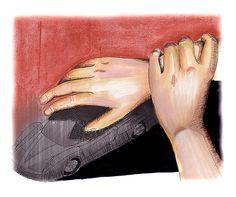 #hands #markers #pastels #illustration