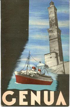 Genua #Liguria Vintage travel poster www.varaldocosmetica.it