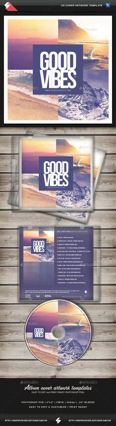 Good Vibes vol.3 - CD Cover Artwork Template — Photoshop PSD #chill house #alternative • Available here → https://graphicriver.net/item/good-vibes-vol3-cd-cover-artwork-template/12429973?ref=pxcr