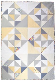 wonderful triangle quilt from CarsonToo on etsy