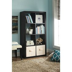 Shop for Better Homes & Gardens Furniture in Home. Buy products such as Better Homes and Gardens 8 Cube Storage Organizer, Multiple Colors at Walmart and save. Cube Bookcase, Cube Shelves, Bookcase Storage, Bookshelves, Shelving, Bookshelf Ideas, Bookcase Styling, Ikea Shelves, White Shelves