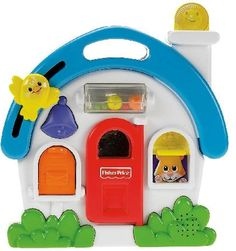 FISHER Price Activity Sounds House The house with the convenient carrying handle offers great playing opportunities for little explorers.The house the door can opened and closed and funny sounds or melodies are also activated by pressi http://www.MightGet.com/january-2017-12/fisher-price-activity-sounds-house.asp