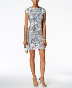 Adrianna Papell Sequin Sheath Dress | macys.com