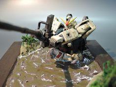 Land Battle Type Gundam Diorama by Hoo