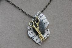 Rock, Paper, Scissors necklace :)