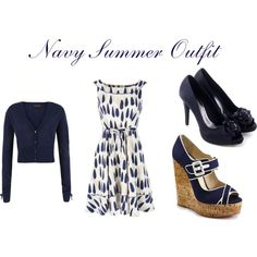 """""""Navy Summer Modest Outfit"""" by mishashawnea96 on Polyvore"""