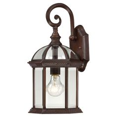 Keep your outdoor spaces well-lit with the Nuvo Lighting Boxwood 1 Light Outdoor Wall Lantern. Beautifully designed, this wall lantern is perfect for a tr...