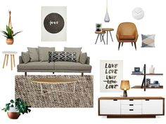 A contemporary moodboard I designed showcasing some of my fave Australian pieces.