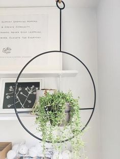 This stunning metal hanging plant holder is forged in Nashville, TN and is sure to make a statement wherever you place it. Available in either black or white metal. Does not come with pot or plant but holds a standard pot. Hanging Plants Outdoor, Indoor Plant Wall, Hanging Plant Wall, Best Indoor Plants, Hanging Planters, Metal Plant Hangers, Wooden Garden Planters, Room With Plants, Plants On Walls