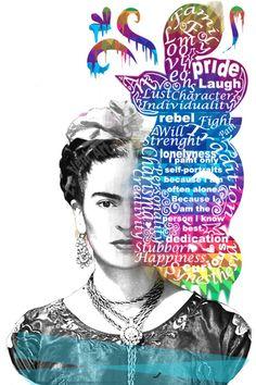 Frida Kahlo - Art Print by Le Vent | Society6