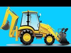 Excavator + 1 Hour Kids Videos Compilation (Incl Diggers, Trucks, Cranes) - Construction cartoon - YouTube