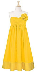 yellow bridesmade dress -- same colors, different styles maybe