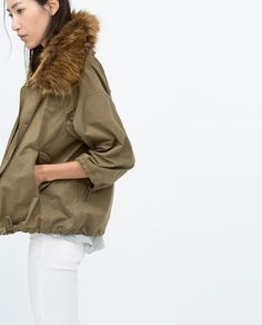 Zara | COTTON PARKA, $149