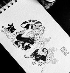Inktober Day 15 #illustration #artwork #inktober #inktober2018 #drawing #ink #doodle #creatureofdarkness #umbrella #totoro #totem #dorothygranjo Totoro, Inktober, Ink Art, Illustration, Doodles, Drawings, Artwork, Cards, Instagram