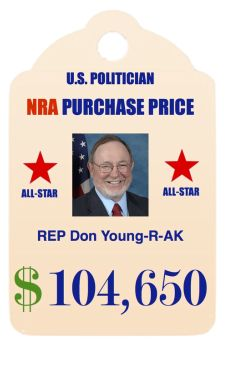HLCYG ~ An NRA all-star performer. Rep. Don Young, Republican from Arkansas. Scumbag.