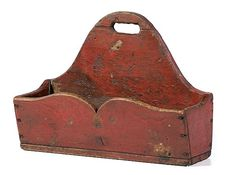 19th Century Candle Box...great lines and color. ****