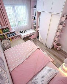 Small apartment bedrooms - 35 wonderful small apartment bedroom design ideas and decor 11 Room Design Bedroom, Small Bedroom Designs, Small Room Design, Room Ideas Bedroom, Home Room Design, Small Room Bedroom, Bedroom Decor, Small Rooms, Tiny Girls Bedroom