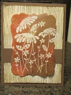 Distressed flowers card