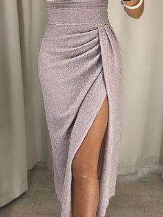 Women Off Shoulder Glitter Party Dress 2018 High Slit Peplum Dresses Autumn Elegant Women's Bodycon Dress Vestidos Slit Dress, Bodycon Dress, Peplum Dresses, Ruched Dress, Dress Brands, Designer Dresses, Thighs, Evening Dresses, Fashion Dresses