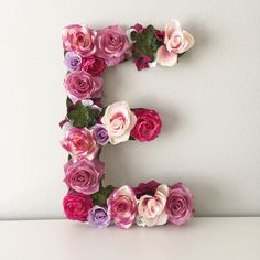 This beautiful customized 15, 19 or 24 tall floral letter or number is perfect for a bridal shower, wedding decor, baby shower, nursery decor, personalized gift, birthday party, photo shoot prop, or sorority event! These letters are made on 1/2 thick WOOD, so they are a sturdy, durable