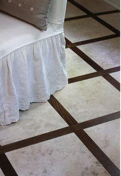 wood framed travertine floor