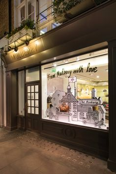MULBERRY Spring/Summer 2015 Window Display   'From Mulberry With Love' by Millington Associates
