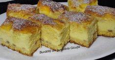 Prajitura cu branza dulce si aluat turnat Pie Recipes, Dessert Recipes, Romania Food, Romanian Desserts, No Cook Desserts, Cake Cookies, I Foods, Sweet Treats, Deserts