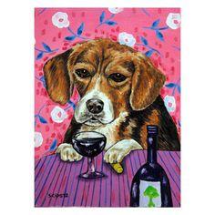 BEAGLE dog bubbles 8x10  art print artist animals impressionism gift new