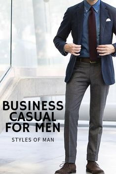 Check out this guide from Styles of Man to everything men's business casual, including business casual outfits and what to wear to the office! Men's Business Casual Winter, Business Formal Women, Business Casual Attire, Mens Fashion Blog, Latest Mens Fashion, Daily Fashion, Smart Casual Men, Casual Man, Business Fashion