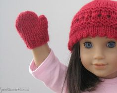 Free Easy Knitted Doll Patterns | Knitting: Easy Doll Mittens - for 18' Dolls