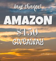 What would you do with $150 to AMAZON??? Enter here>http://bit.ly/2jI6Zvd